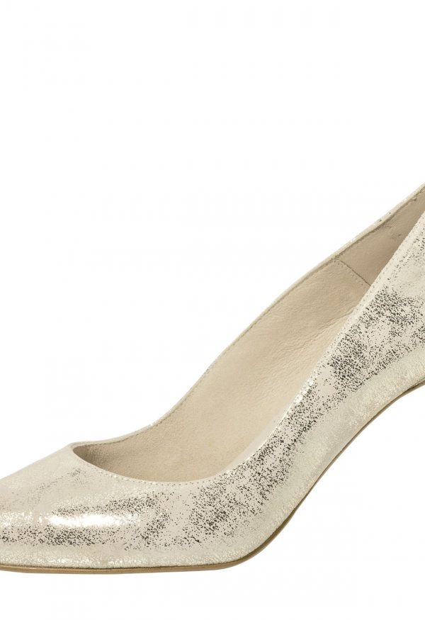 Katya Champagne Gold Suede