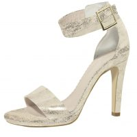 Marysol Champagne Gold Suede (Leather)